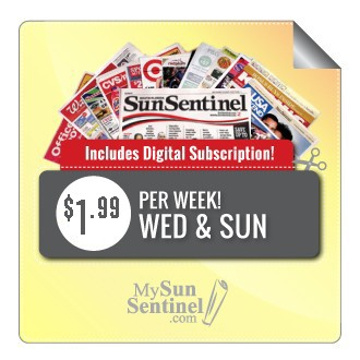 Wed & Sun Home Delivery - $1.99 per week + dig